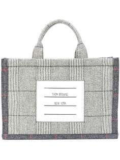 Thom Browne клетчатая сумка-тоут с полосками 4-Bar
