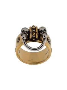 Alexander McQueen кольцо с декором Skull