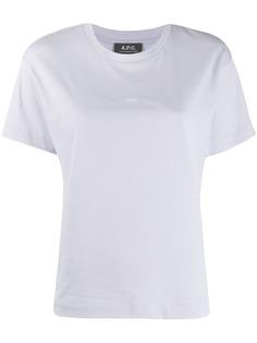 A.P.C. футболка с логотипом