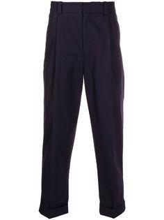 Acne Studios твиловые брюки чинос со складками