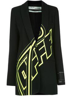 Off-White блейзер оверсайз с логотипом