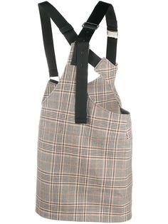 Junya Watanabe клетчатая юбка с пряжкой