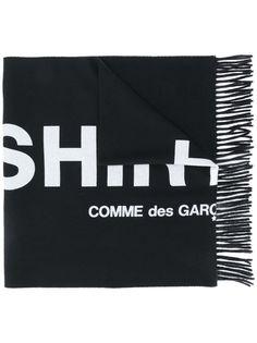 Comme Des Garçons Shirt шарф вязки интарсия с логотипом