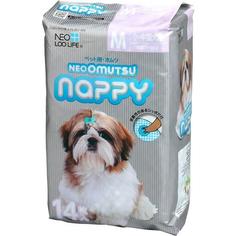 Подгузники для домашних животных Neoomutsu Nappy размер М на вес 5-8 кг 14 шт
