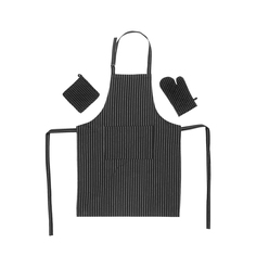 Набор кухонный Homelines textiles фартук/прихватка/рукавица black