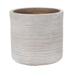 Горшок для цветов L&t pottery цилиндр серый d33.5