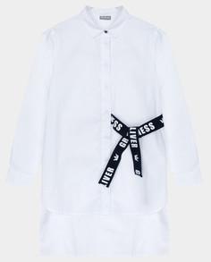 Белая блузка с длинным рукавом Gulliver 22007GJC2201 размер 164