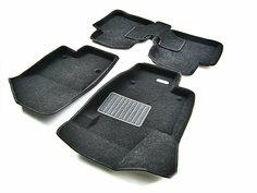 Коврики салона Euromat для Toyota Highlander 14- original черный текстиль emc3d-005127