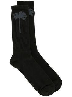 Palm Angels носки в рубчик