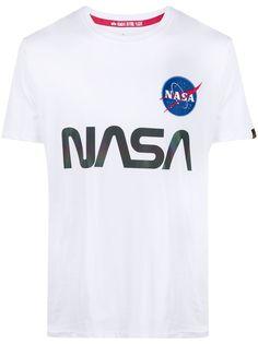 Alpha Industries футболка с логотипом