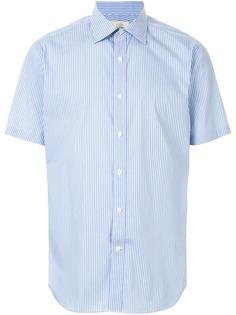Kent & Curwen полосатая рубашка с короткими рукавами
