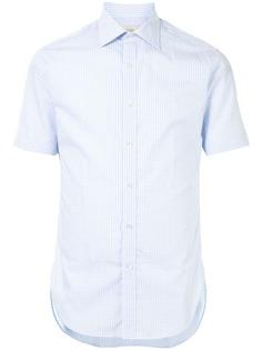 Kent & Curwen клетчатая рубашка с короткими рукавами