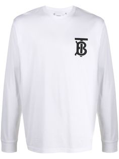 Burberry футболка Atherton с длинными рукавами и логотипом