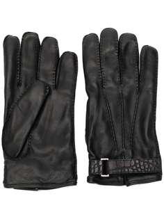 Ermenegildo Zegna перчатки с тисненым ремешком