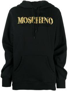 Moschino худи с вышитым логотипом