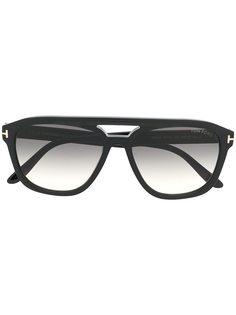 Tom Ford Eyewear солнцезащитные очки-авиаторы в массивной оправе