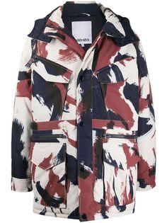 Kenzo куртка с капюшоном и абстрактным узором