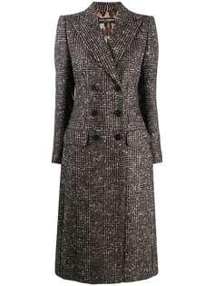 Dolce & Gabbana двубортное пальто в клетку