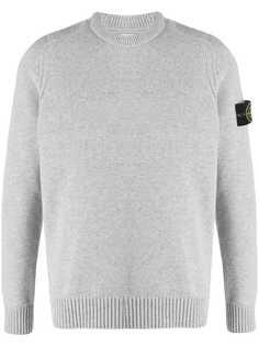 Stone Island свитер с нашивкой-логотипом и круглым вырезом