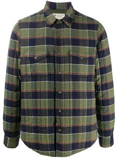 Aspesi стеганая куртка-рубашка в клетку
