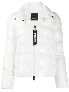 Pinko стеганое пальто с воротником-воронкой