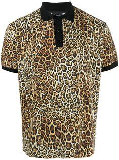 Just Cavalli рубашка поло с леопардовым принтом