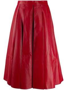 Alexander McQueen плиссированная юбка миди