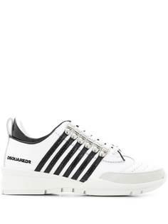Dsquared2 двухцветные кроссовки на шнуровке