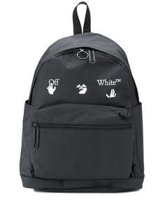 Off-White матовый рюкзак с логотипом