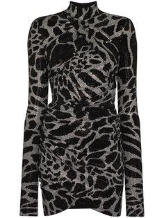 Alexandre Vauthier коктейльное платье с запахом и блестками