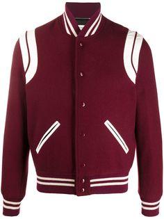 Saint Laurent куртка-бомбер Teddy