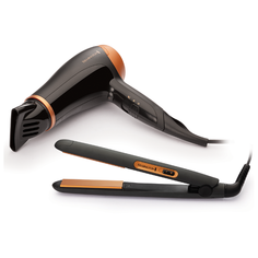 Набор (фен + щипцы) Remington D3012GP black/orange