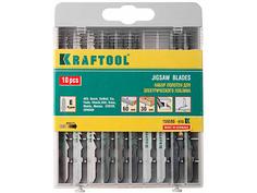 Пилка Kraftool по дереву/ДСП/фанере/мягкому листовому металлу 10шт 159590-H10