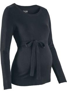 Пуловер с поясом, для беременных Bonprix