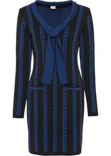 Платье вязаное с воротником-шалькой Bonprix