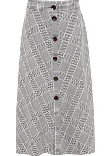 Юбка макси в клетку гленчек Bonprix