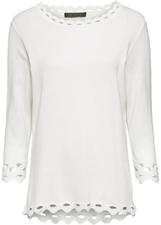 Пуловер с ажурной отделкой Bonprix