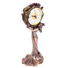 Часы настольные Русские подарки Лотос 13х11х31см