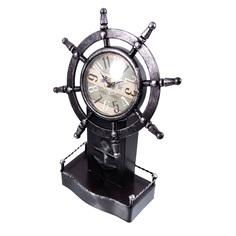 Часы настольные Русские подарки штурвал 22х10х34см