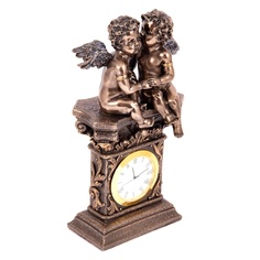 Часы настольные Русские подарки Ангелочки 11х7х20см