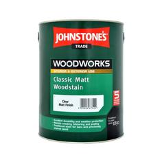 Лак Johnstones Matt Woodstain Бесцветный 0,75 л Johnstones