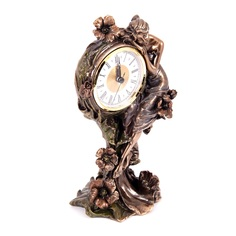 Часы настольные Русские подарки Цветочная фея 16х10х25см