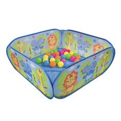 Манеж самораскрывающийся Bondibon Веселые игры + 30 шариков
