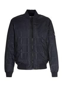 Демисезонная куртка бомбер с монограммой бренда Calvin Klein Jeans