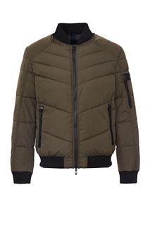 Демисезонная куртка-бомбер цвета хаки Antony Morato
