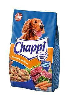 Сухой корм для собак Chappi Сытный мясной обед, Мясное изобилие с овощами и травами, 600г