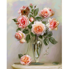 Картина по номерам Molly Розы в вазе