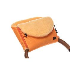 Муфта меховая для коляски Nuovita Polare Pesco оранжевая
