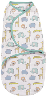 Summer infant конверт на липучке swaddleme, размер s/m, сафари