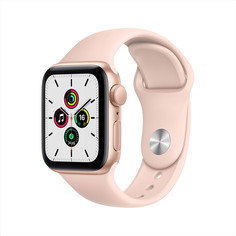 Смарт-часы Apple Watch SE 40mm Gold Aluminium Case with Pink Sand Sport Band (MYDN2RU/A)